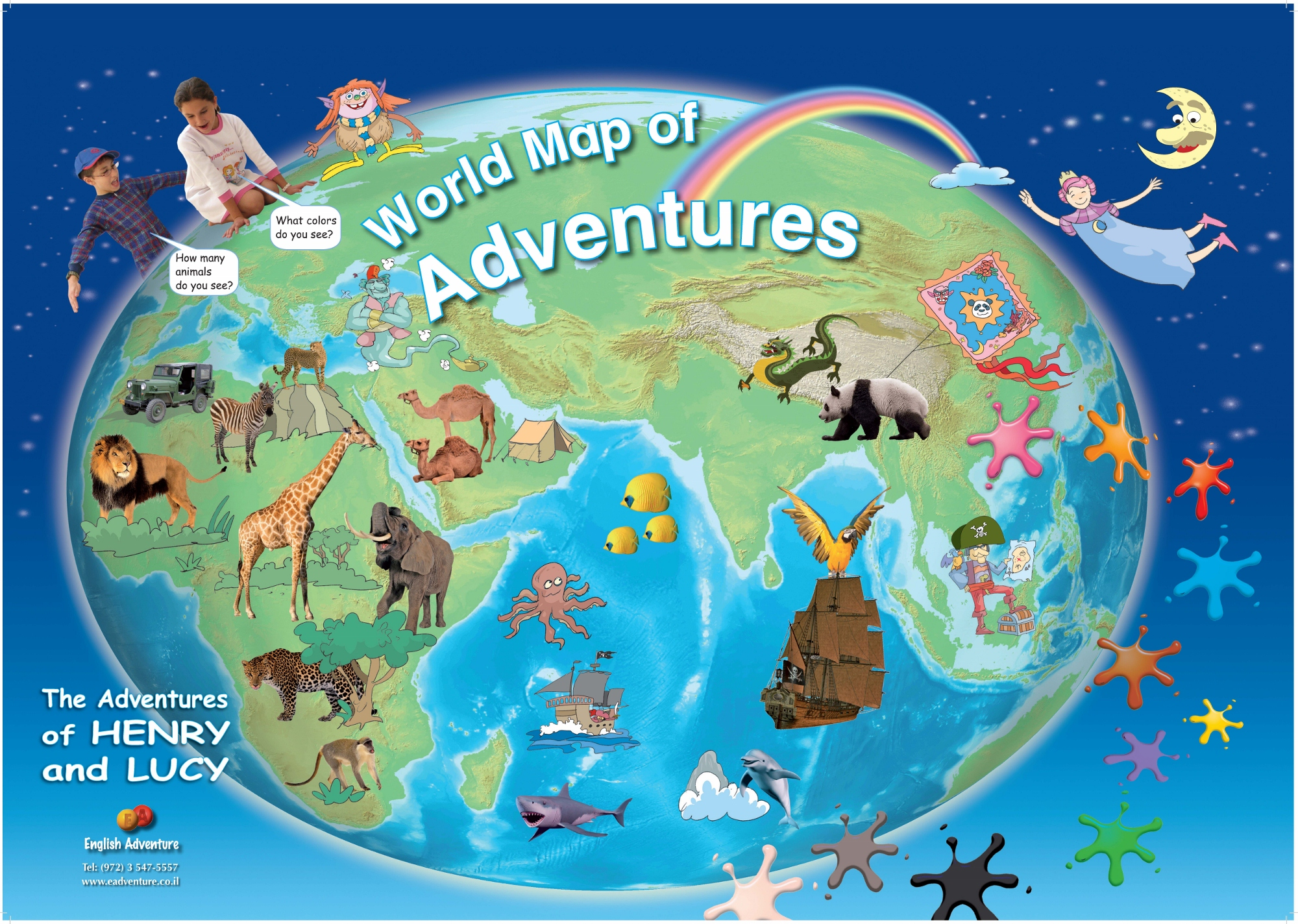 English Adventure - Student's Zone: Classroom posters